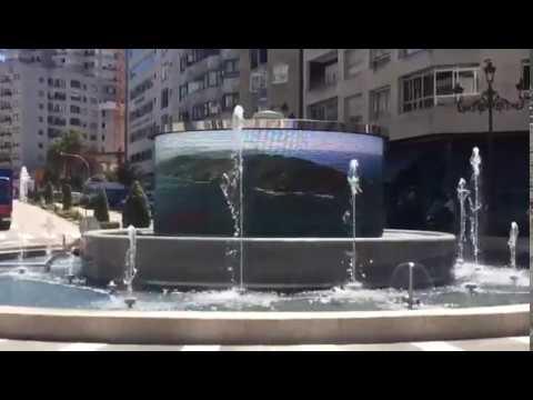 La nueva fuente con pantallas LED en Rosalía de Castro