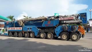 TRANS ELITE DEMAG CRANE AC1600j n 3 low loader