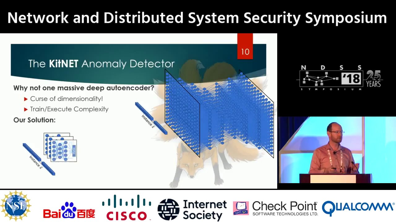 NDSS 2018 - Kitsune: An Ensemble of Autoencoders for Online Network  Intrusion Detection