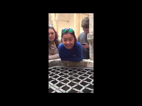 "Thumbnail: Girl sings ""Hallelujah"" down a well in Italy....Beautiful singing and echo!"