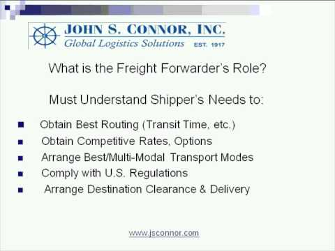 A Basic Guide to Exporting: Selecting a Freight Forwarder
