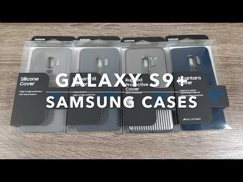 Samsung Galaxy S9 Plus Cases - Official Cases (Alcantara, Hyperknit, Rugged Kickstand, Silicon)