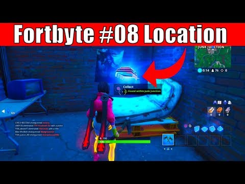 Fortbyte #8 Location Guide - Found within Junk Junction(Fortnite Fortbyte Challenges)
