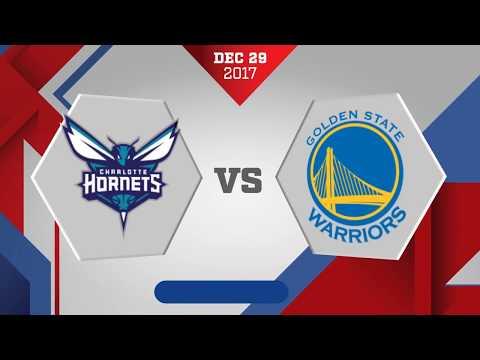 Charlotte Hornets vs. Golden State Warriors - December 29, 2017