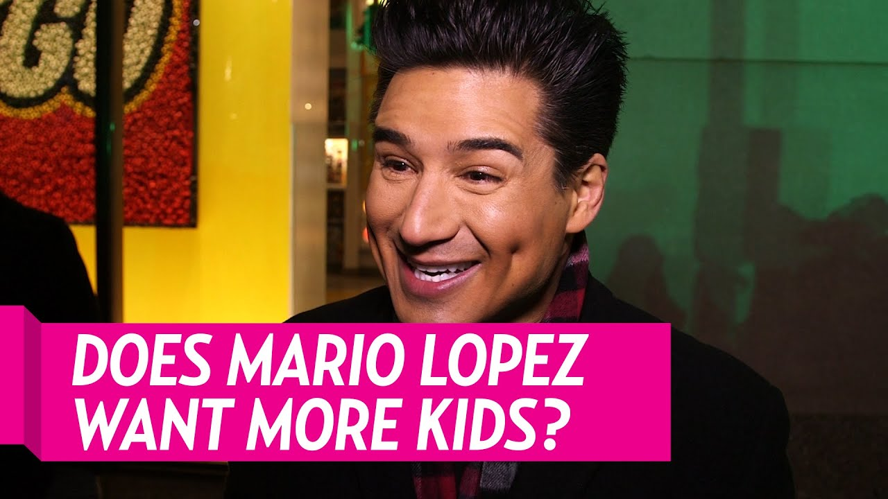 Mario Lopez Talks More Kids With Wife Courtney Youtube