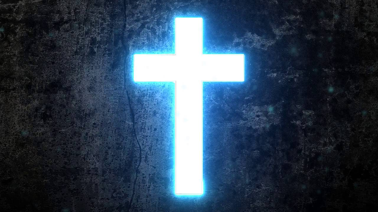 Hd 720p Glowing Cross Motion Background Youtube