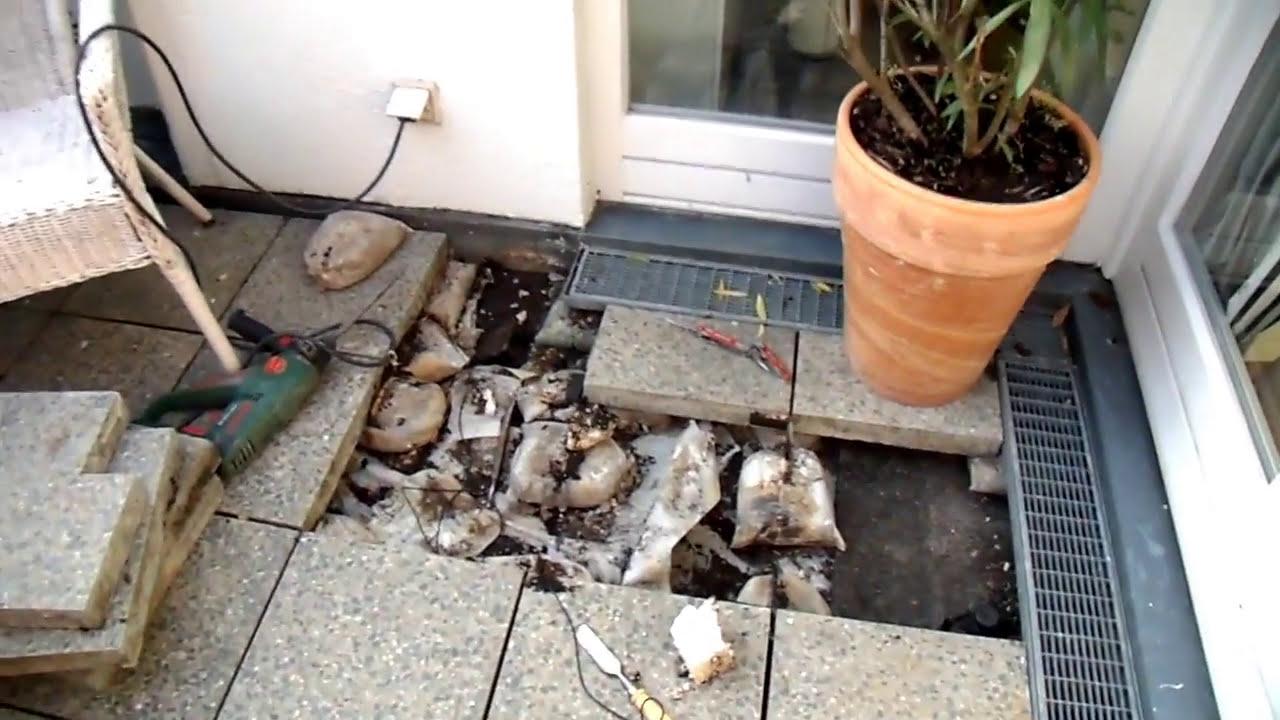 Bausachverstandiger Schmalfuss Terrassenabdichtung Defekt Video Youtube