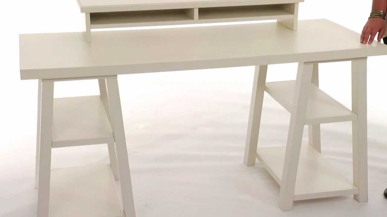 Maximize Style And Storage With The Customize It Trestle Desk Pbteen You