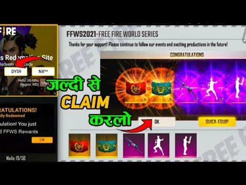 How To Claim FFWS Live Watching Rewards | Redeem Code Kyu Nehi Mila| Free Fire World Series Event ||