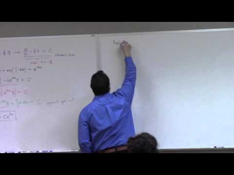 Calculus II: sec1: separation of variables, 2nd order start, Feb 11 (part 1)