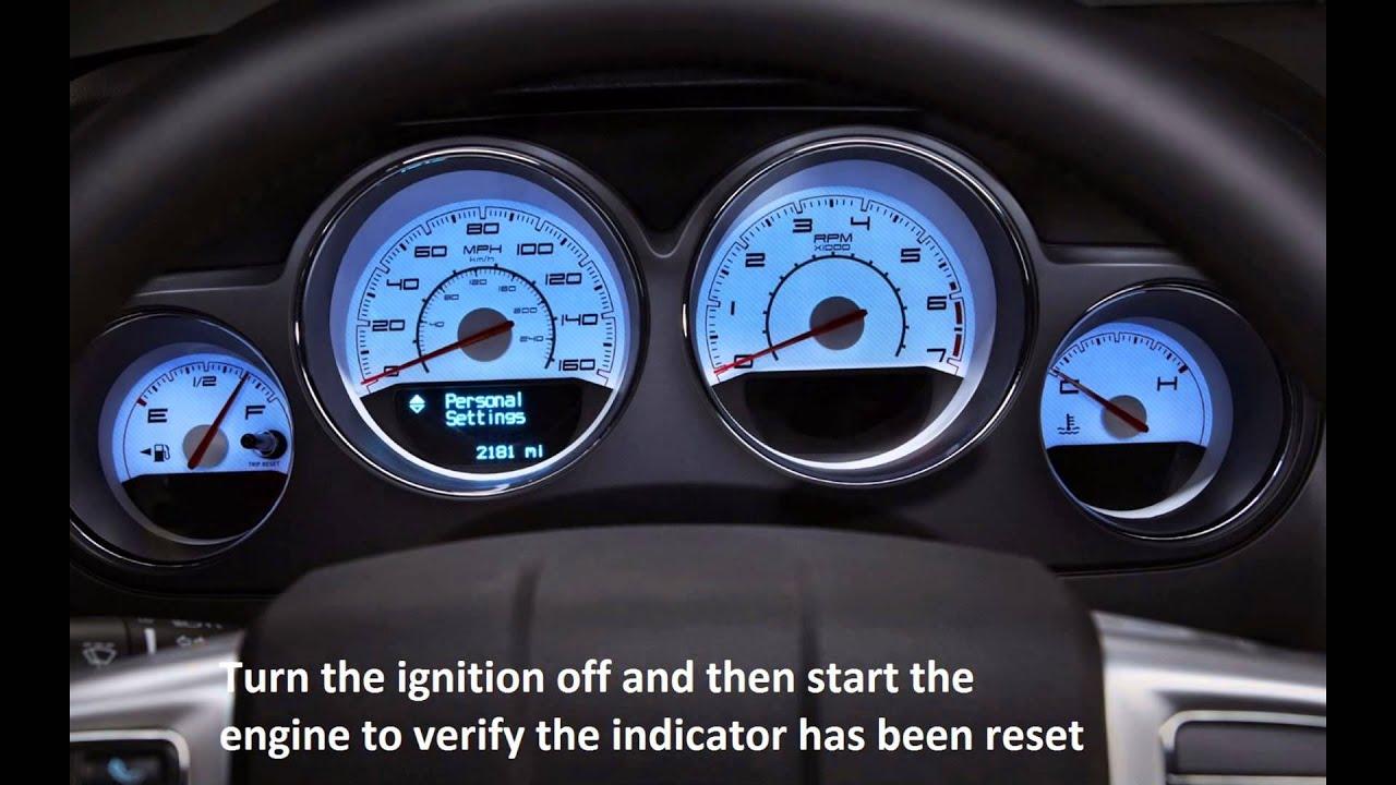 how to reset oil service light chrysler sebring 2008 2014 [ 1280 x 720 Pixel ]