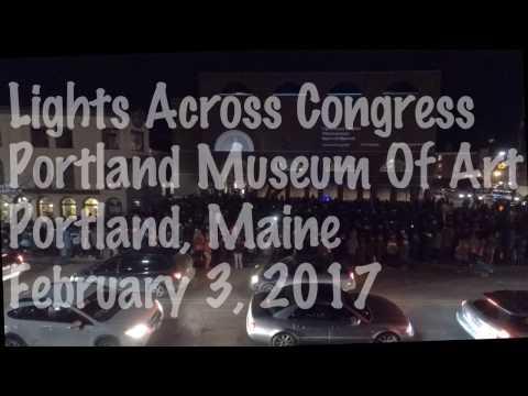 Lights Across Congress at Portland Museum Of Art
