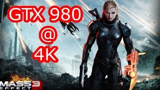 Mass Effect 3 Pc 4K GTX 980 FPS Performance Test