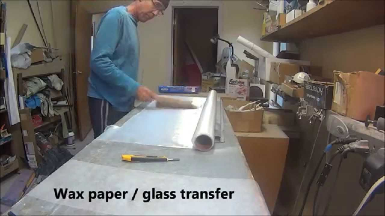 air plank wax paper glass transfer youtube
