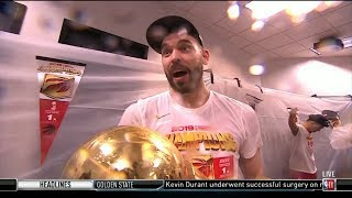 Marc Gasol congratualations his team and Raptors' fan for 1st win NBA Championship in team history