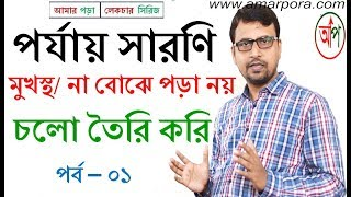 পর্যায় সারণি - SSC & HSC! periodic table (আমার পড়া / amar pora) পর্যায় সারনী, সহজ রসায়ন