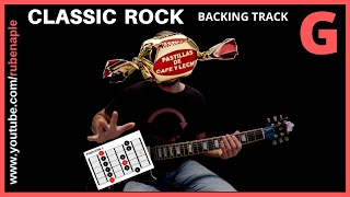 Gambar cover Backing track Rock Clásico en G (SOL) 160 bpms con PDFs para descargar