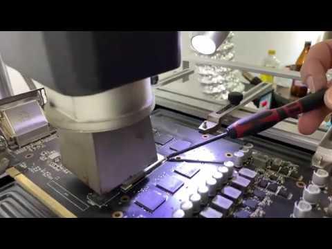Ремонт видеокарты ASUS STRIX RX 580 замена видеочипа | Сервисный центр | Komplektoff. Новосибирск