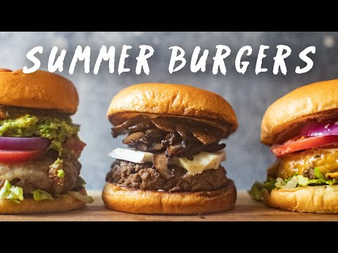 JUICY BURGER Recipes for your SUMMER BBQ 🍔🍔🍔| HONEYSUCKLE