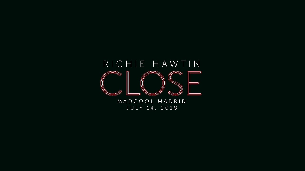Black And White Madrid richie hawtin - close live at madcool festival, madrid, spain - 14.07.18