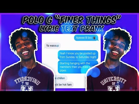 """POLO G """"FINER THINGS"""" LYRIC TEXT PRANK ON LIL BROTHER!"""