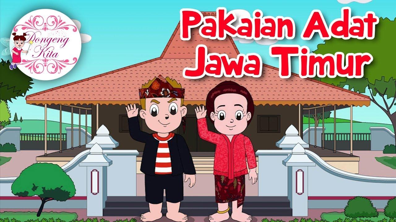 Gambar Pakaian Adat Jawa Timur Versi Kartun