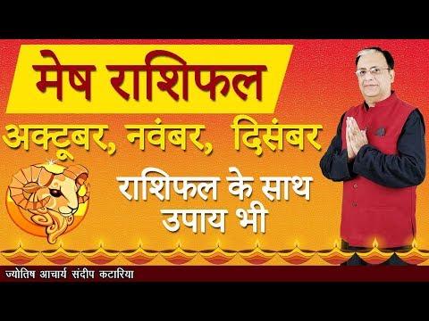 Mesh Rashiphal October - December 2018 Monthly Horoscope ARIES Forecast Astrology - Sundeep Katarria