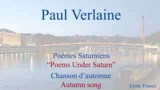 French Poem Chanson d 39 Automne by Paul Verlaine