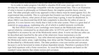 Essay 70   A Simple and Powerful New Cosmology