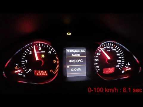 AUDI A6 C6 2.0tdi (175HP) acceleration 0-100
