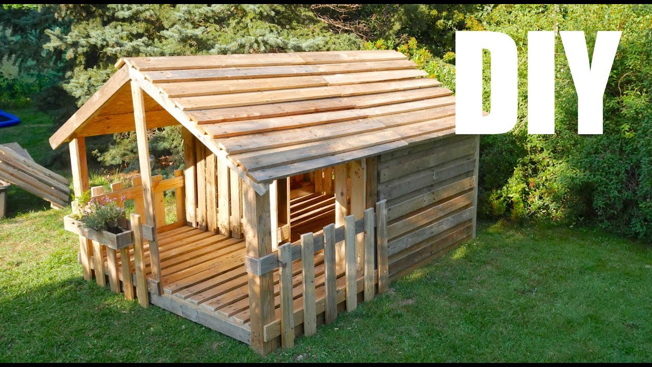Offenes Gartenhaus Selber Bauen Playhouse Garden House For Children Build Your Own From Pallets Instructions