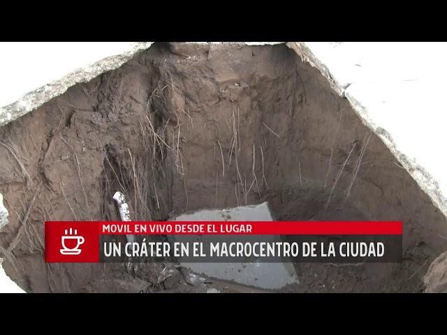 Video: un cráter en el macrocentro de Río Cuarto | La Voz