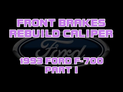 1993 Ford F700 - Rebuilding A Caliper And Front Brakes ...