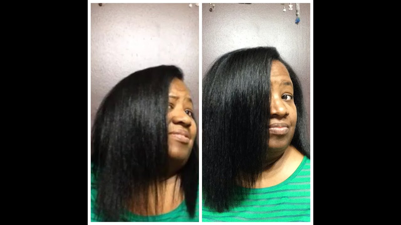 My Trim Results Thinning Ends October 2015 Perm Relaxed Texlaxed Youtube