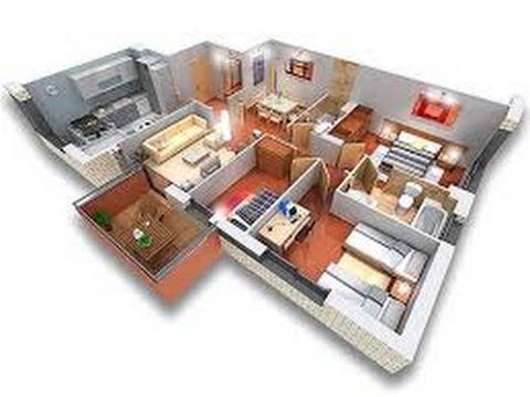 Planos de casas en 3d youtube - Planos en 3d de casas ...
