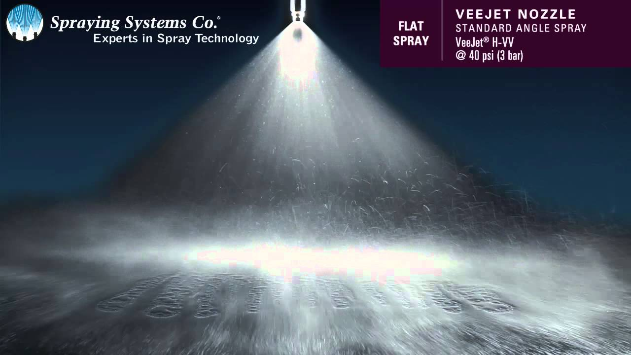 Veejet 174 H Vv Standard Angle Spray Pattern Demonstration By