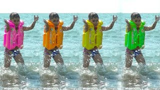 Four Little Baby 🌊 Swimming On The Sea 🌊 Educational Activities Videos For Kids And Toddlers