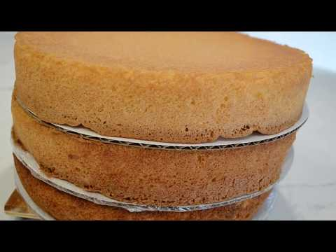 Easy 4 Ingredient Sponge Cake Recipe