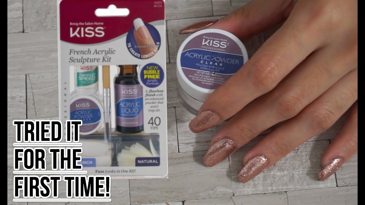 Kiss French Acrylic Sculpture Kit (BRING THE SALON HOME)! - YouTube