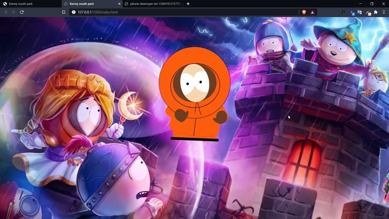 SOUTH PARK KENNY ANIMATION WITH HTML AND CSS   CSS ART   CSS ILLUSTRATION
