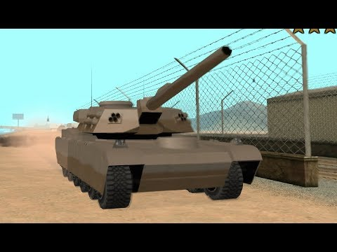 Driving Across San Andreas In A Rhino Tank With A 6 Star Wanted Level - GTA San Andreas