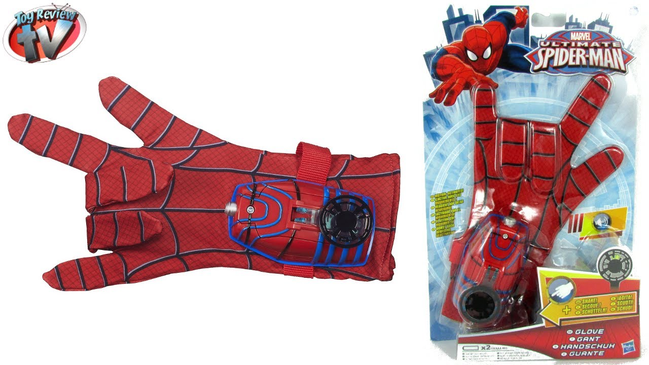 ULTIMATE SPIDERMAN TOYS Hero FX Glove Costume Dress Up Toy Review ...