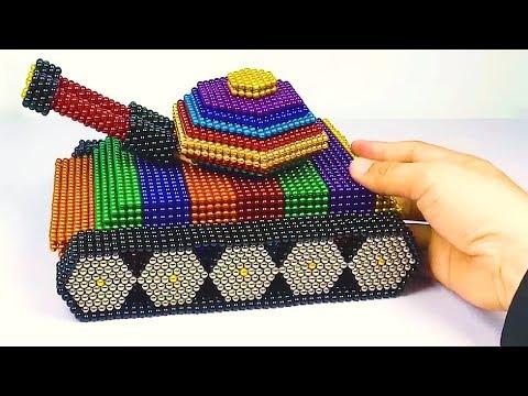 DIY Make TANK With Magnet Hand Work │ Relaxing Video ASMR Magnet Tank 4K