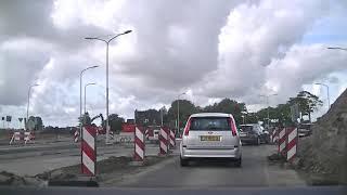 N360 tussen Groningen en Delfzijl is dit weekend afgesloten bij Garmerwolde
