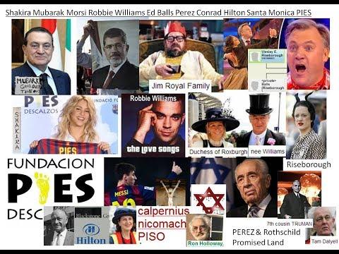 Shakira Mubarak Morsi Robbie Williams Ed Balls Perez Conrad Hilton Santa Monica PIES descalos PISO a
