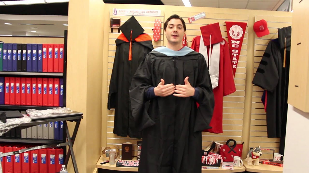 NC State Graduation Regalia Tutorial - YouTube