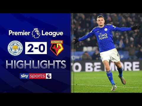 Vardy scores again as Leicester brush aside Watford | Leicester 2-0 Watford | EPL Highlights