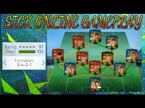 Fifa 16 UT Mobile Online DIVISION 1 GAMEPLAY Using 197 SQUAD Android IOS Phones! So Freaking Tough!!