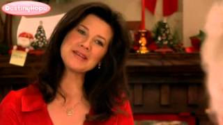 Daphne Zuniga: On Strike for Christmas 2010 (Red Satin Blouse)