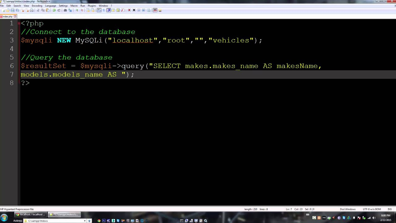 Query Multiple Tables Using Php And Mysql Youtube